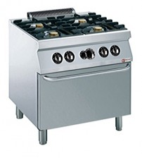 Gas Stove 4 Burners with Gas Oven